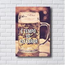 Placa Quadro Decorativo Copo Cerveja