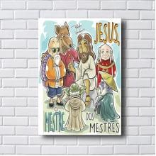 Placa Quadro Decorativo Jesus o mestre dos mestres