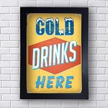 Quadro Decorativo Cold Drinks