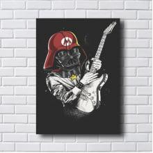 Quadro Decorativo Darth Vader rock