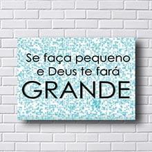 Quadro Decorativo Deus Te Fará Grande
