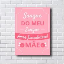 QUADRO DECORATIVO SANGUE DO MEU SANGUE
