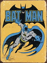 Placa Decorativa Vintage Retro Batman