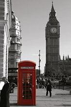 Placa Decorativa Vintage Retro Big Ben Telephone PDV135