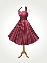 Placa Decorativa Vintage Retro Vestido Mulher PDV141