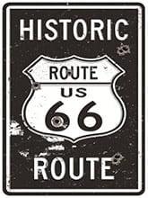 Placa Decorativa Vintage Retro Route US 66 Historic PDV127