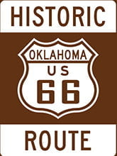 Placa Decorativa Vintage Retro Route 66 Historic PDV126