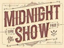 Placa Decorativa Vintage Retro Midnight Show PDV128