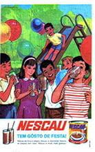Placa Decorativa Vintage Nescau Tem gosto de festa Propaganda PDV417