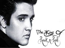 Placas Decorativas Elvis Presley The King of Rock Retro PDV404