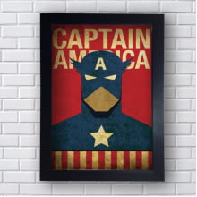 Placa Quadro Decorativo Capitain America