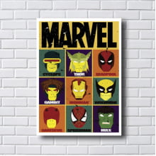 Placa Quadro Decorativo Marvel