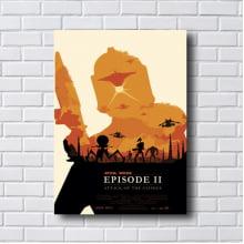 PLACA QUADRO DECORATIVO STAR WARS EPISODE II