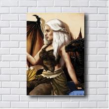 Quadro Decorativo Game off thrones Daenerys Targaryen