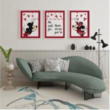 Kit De Quadros Decorativos Por Onde For Quero Ser Seu Par Minnie e Mickey