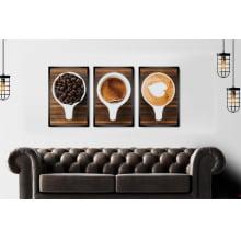 Conjunto Quadros Decorativos para Cozinha Café