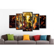 Conjunto Quadro mosaico Elefante hinduísmo