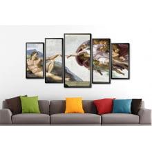 Conjunto Quadros A criação de Adão, de Michelangelo