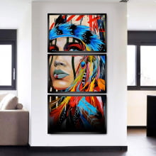 Quadros Decorativos para Sala Quarto Mosaico India Apache