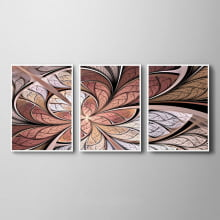 QUADROS DECORATIVOS FLOR VITRAL ROSE ABSTRATO