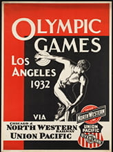 Placa Decorativa Poster Olimpiadas Los Angeles 1932 PDV549