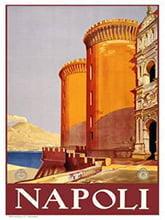 Placa Decorativa Napoli Italia Cartão Postal PDV576