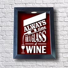 Porta Rolhas Decorativo - Always For Time Wine