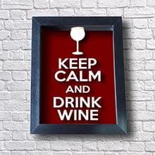 Quadro para Rolha de Vinho - Keep Calm