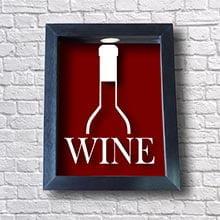 Quadro Porta Rolha de Vinho - Wine