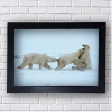 Quadro Decorativo de Familia de Ursos