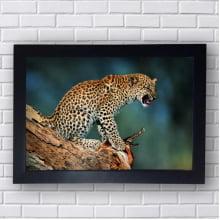 Quadro Decorativo Leopardo