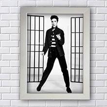 Quadro Elvis Presley Preto e Branco
