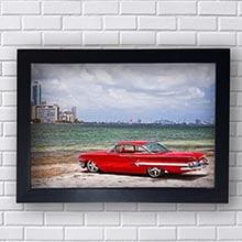 Quadro Cadillac Vermelho Mar