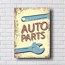 Quadro Carro Vintage Auto Parts