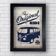Quadro Carro Vintage Original Ride