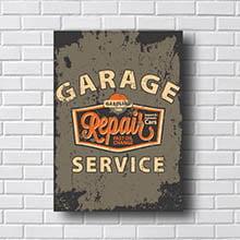 Quadro Vintage Carro Garage Service