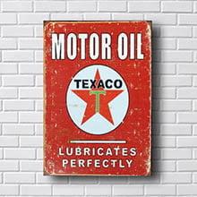 Quadro Vintage Texaco Retro
