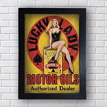 Quadro Vintage Woman Motor Oil