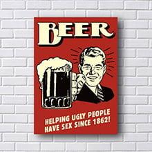 Placa Decorativa Cerveja Beer 1862