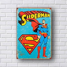 Quadro Super Man Retro