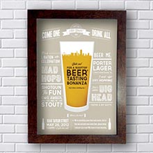 Quadro Decorativo Beer Tasting