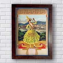 Quadro Vintage Brahma 1918 Retro