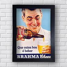 Quadro Vintage  Brahma Coisa Boa é Beber