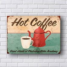 Quadro Decorativo Cafe Hot