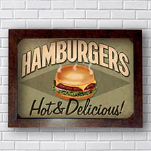 Quadro Decorativo Hamburguer