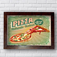 Quadro Decorativo Pizza Authentic Italian