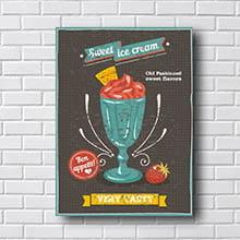 Quadro Decorativo Sweet Ice Cream