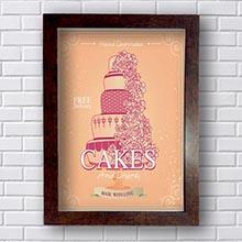 Quadro Vintage Cakes