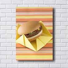 Quadros Decorativos Cozinha Hamburger