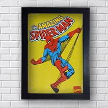 Quadro Spider Man Quadrinhos